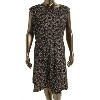 Tahari ASL Womens Plus George Sleeveless Embellished Wear to Work Dress - 16W