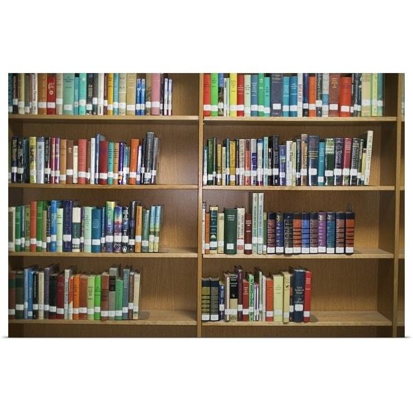 """""""Library bookshelves"""" Poster Print"""