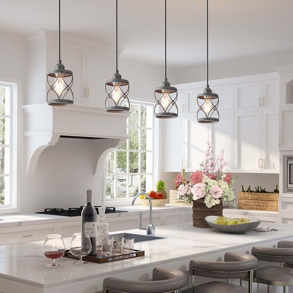 LNC Modern Farmhouse 1-Light Geometric Mini Pendant Lighting Ceiling Light Fixture. Opens flyout.