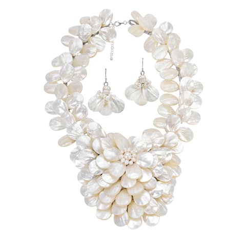Handmade Exquisite Focus Mother of Pearl Pearls Jewelry Set (Thailand)