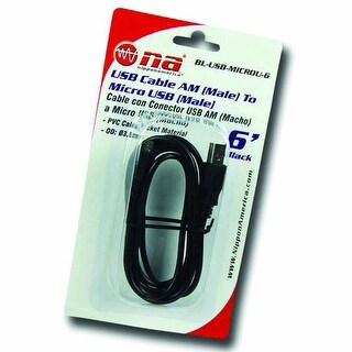Nippon America BLUSBMICROU3 3' USB Cable AM To Micro USB