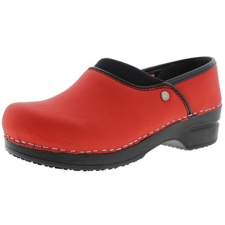 Sanita Womens Ryland Leather Slip Resistant Clogs - 36 medium (b,m)