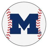 University of Michigan Wolverines Baseball Area Rug