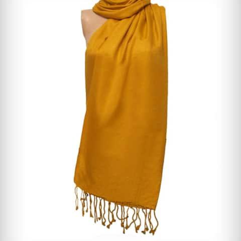 Amtal Women Solid Pashmina Scarf Shawl Winter Wear Soft Cozy Scarve Girls Fashion Holiday Season Gift