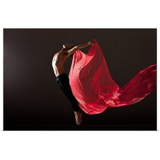"""Male dancer"" Poster Print"