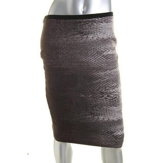 T Tahari Womens Leyla Woven Ombre Pencil Skirt - 10