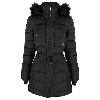 Link to Michael Kors Active Black Scuba Belted Coat Similar Items in Jackets