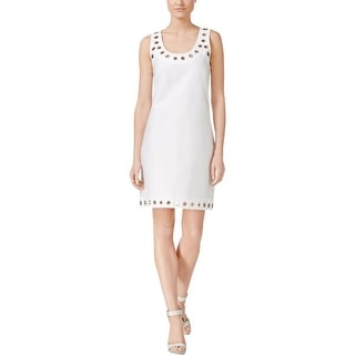 Calvin Klein Womens Petites Casual Dress Grommet Trim Sleeveless