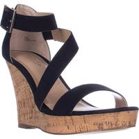 Charles Charles David Leanna Strappy Wedge Sandals, Navy