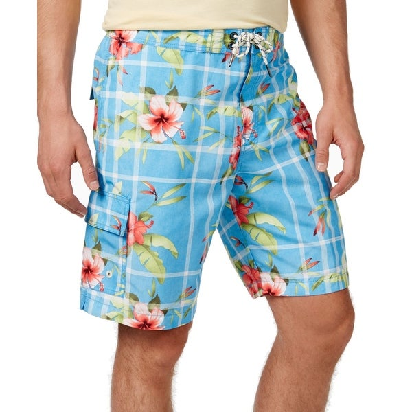 6fcbbbf390 Shop Tommy Bahama NEW Blue Mens Size Medium M Floral Print Surf Board Shorts  - Free Shipping Today - Overstock - 19830715