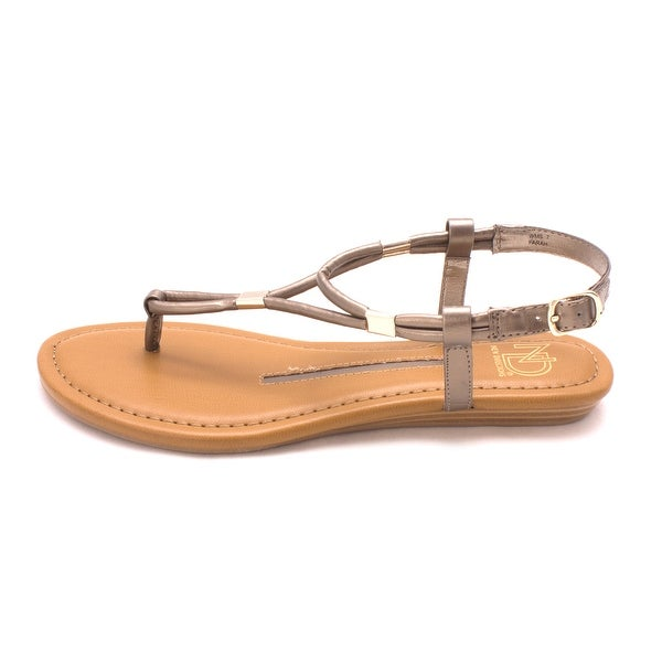 New Directions Womens Farah Open Toe Casual Ankle Strap Sandals - 7