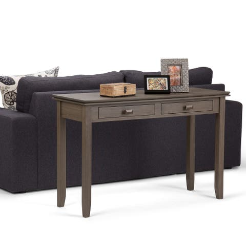 WYNDENHALL Stratford SOLID WOOD 46 inch Wide Transitional Console Sofa Table - 45.9 Inches wide