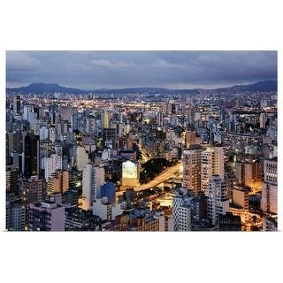 """Sao Paulo skyline at dusk"" Poster Print"
