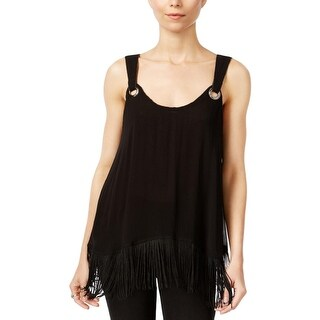 Free People Womens Casual Top Fringe Textured