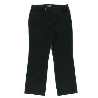 Ralph Lauren Womens Adelle Stretch Flat Front Dress Pants