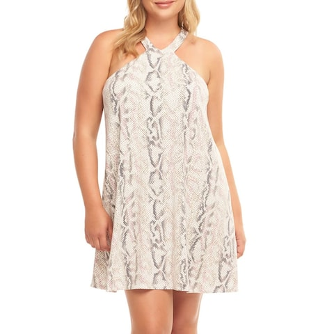 TART Rise Minidress Women's Short Dress, Sunrise Python, 1X