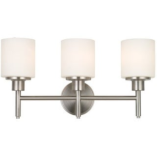 Design House 556209 Aubrey Indoor 3-Light Vanity Fixture, Satin Nickel