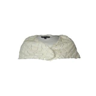Marina Women's Faux Fur Sequin Shawl