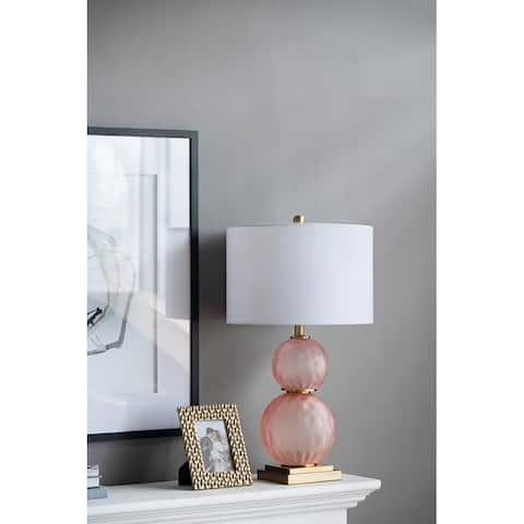 """15x15x29"""" Glass Table Lamp"""