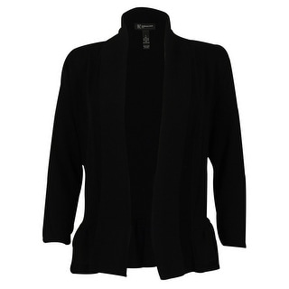 INC International Concepts Women's Ruffled Open Front Cardigan
