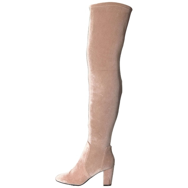 LFL by Lust for Life Womens lex Fabric Almond Toe Over Knee Fashion Boots
