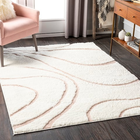 Jemele Transitional Wave Plush Area Rug