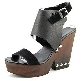 Charles By Charles David Teisha Women Open Toe Leather Platform Sandal