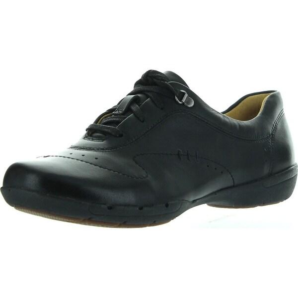 Clarks Womens Un Halsie Oxford Lace Up Flats Shoes