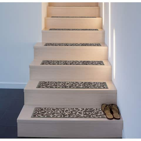 Modern Scroll Non-Slip Stair Treads