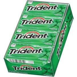 Trident Sugar Free Gum Spearmint 12 pack (18 ct per pack)