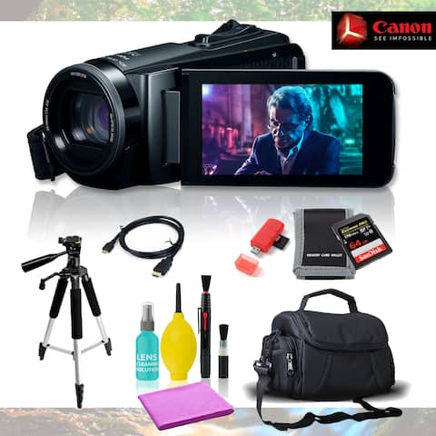 Canon Vixia HF W10 Camcorder with 8 Piece Accessories Pro Bundle