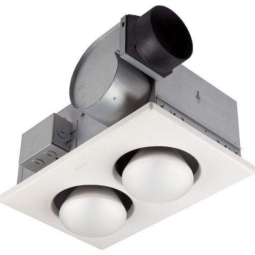 NuTone 9427P 70 CFM 3.5 Sone Ceiling Mounted Energy Star Rated and HVI Certified Bath Fan with Light