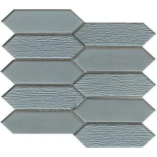 "Emser Tile W13PICK1011MO Picket - 10-7/8"" x 9-7/16"" Linear Hexagon Mosaic Multi- - N/A"