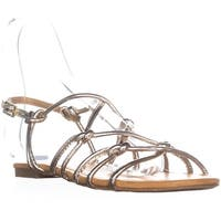 Report Gail Flat Knot Sandals, Soft Gold - 8.5 us