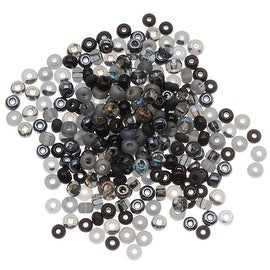Czech Seed Beads 6/0 ''Witches Brew'' Black & Iris Mix Lot (1 Ounce)