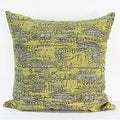 "G Home Collection Luxury Lemon Yellow Mix Color Metallic Chenille Pillow 22""X22"" - Thumbnail 2"