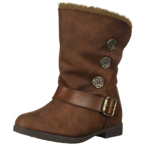 Kids Blowfish Girls BF-7524tsh Leather Mid-Calf Buckle Platform Boots