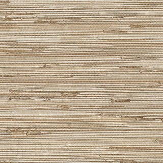 Brewster 63-65601 Ting Taupe Grasscloth Wallpaper