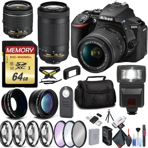 Nikon D5600 Camera with 18-55mm Lens and Nikon 70-300mm Lens Bundle
