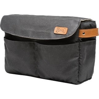 ONA - The Roma - Camera Bag Insert & Organizer - Black Waxed Canvas (ONA5-004BL)