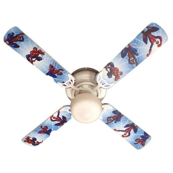 Children's 42in Ceiling Fan Light Spiderman Blade Kit - Multi