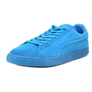 Puma Suede Eboss Iced Fluo Round Toe Suede Sneakers
