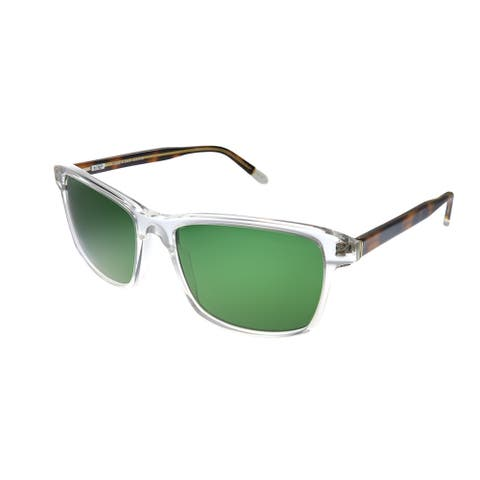 Original Penguin PE Jack SUN CR Unisex Crystal Frame Green Polarized Lens Sunglasses