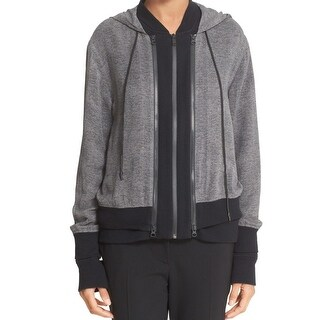 DKNY NEW Gray Women's Size Large L Double-Layered Hooded Sweater