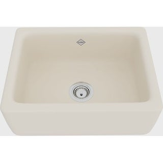 "Rohl RC2418 Shaws Original 21-1/4"" Single Basin Farmhouse Fireclay Apron Kitchen Sink"