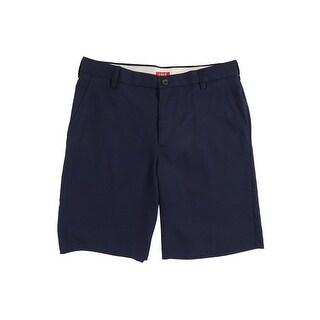IZOD Men's Flat-Front Solid Microfiber Shorts