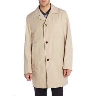 Hugo Boss Dais5 Beige Button Up Raincoat 46 Long 46 Rainwear