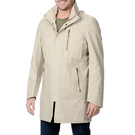 Nautica Men's Hooded Stone Raincoat
