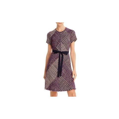 REBECCA TAYLOR Pink Short Sleeve Above The Knee Dress 4