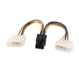 2xLP4 to 6 Pin PCIE PCI Express Video Card Power Cable Adapter